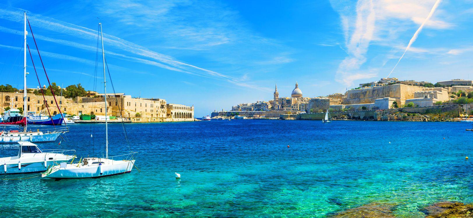 Фото бесплатно Мальта, Валлетта, море, яхты, город