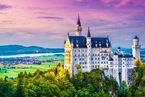 Бесплатные фото Бавария,Германия,Замок Нойшванштайн