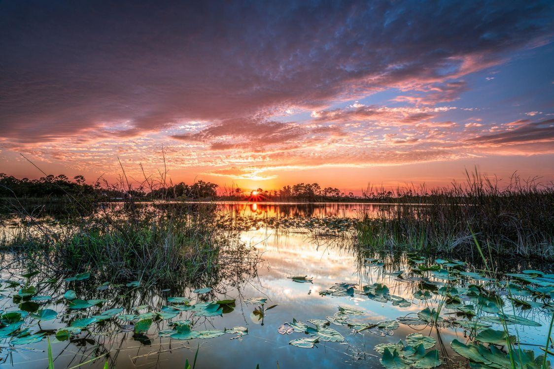 Фото бесплатно закат, озеро, небо, природа, пейзаж, пейзажи - скачать на рабочий стол