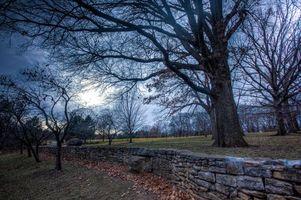 Фото бесплатно камни, поле, осень
