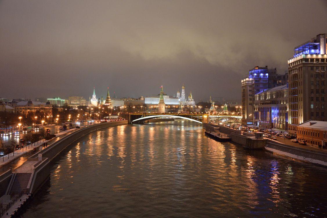 Фото бесплатно Россия, Московский Кремль, Москва-реку - на рабочий стол