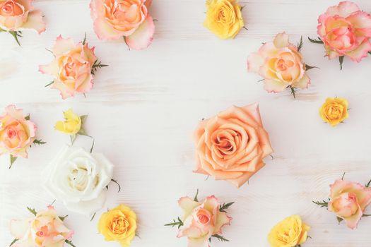 roses,flowers,wood
