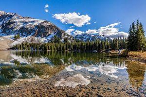 Бесплатные фото Колорадо,Горы Сан-Хуан,Alta Lakes озеро,горы,деревья,пейзаж