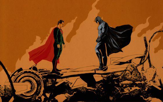 Фото бесплатно Супермен, Batman, Digital Art