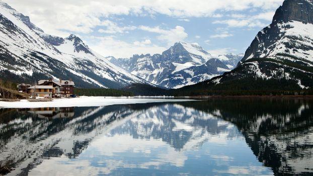Фото бесплатно озеро Джозефина, Монтана, отражение