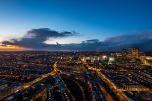 Бесплатные фото Гаага,нидерланды,ночной город,вид сверху,the hague,netherlands,night city