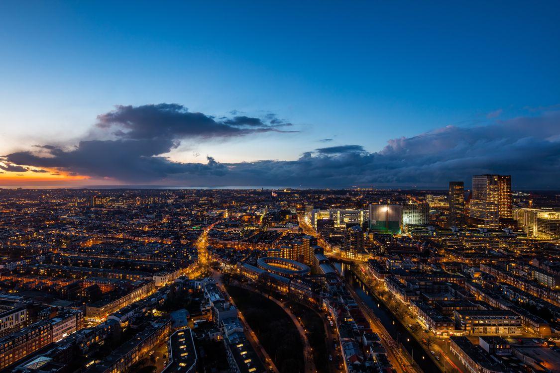 Free photo The Hague, netherlands, night city - to desktop