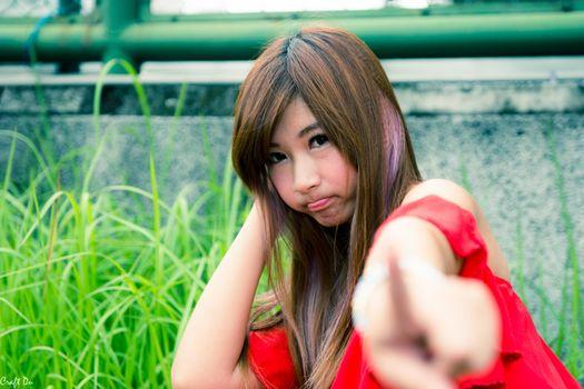 Фото бесплатно азиатка, модель, жест рукой
