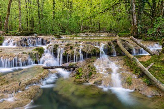 Photo free Cascades de Tufs, France, waterfall