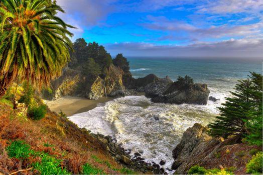 Фото бесплатно mcway waterfall, Калифорния, Тихоокеанское побережье