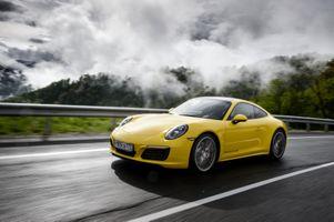 Фото бесплатно автомобиль, Porsche 911, желтый