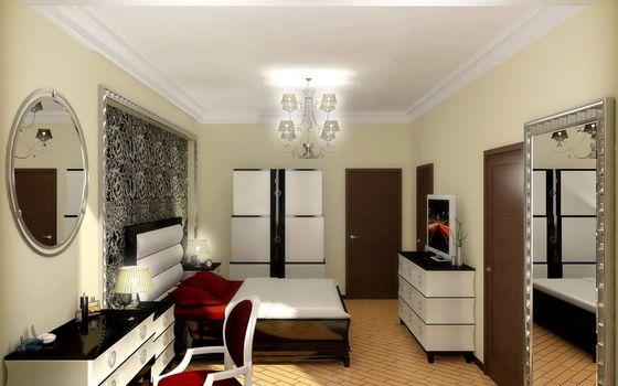Фото бесплатно кровать, спальня, тумбочка