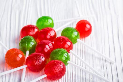 Фото бесплатно леденцы, разноцветные, конфеты