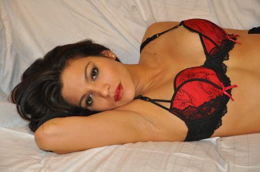 Photo free black, model, red