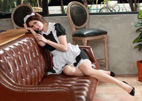 Photo free woman, maid, asian
