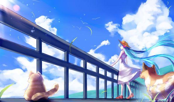 Фото бесплатно Hatsune Miku, художника, аниме