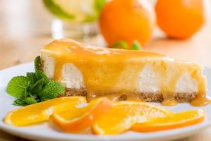мята, чизкейк, десерт, апельсиновый сироп, торт