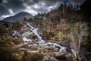 Фото бесплатно горы, реки соединенное королевство, горные деревья