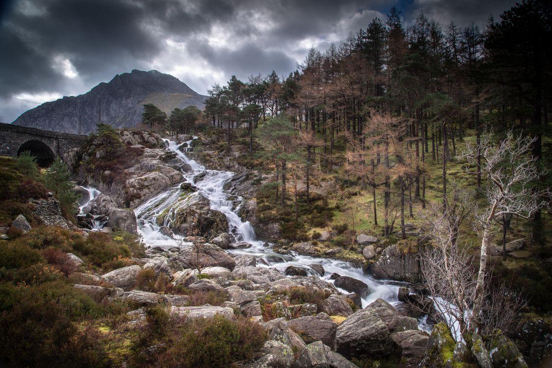 Фото горы реки соединенное королевство горные деревья - бесплатные картинки на Fonwall