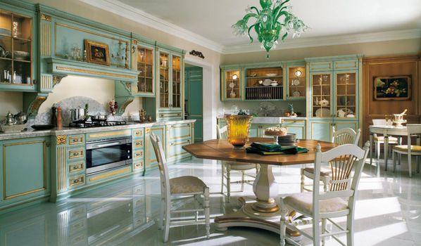 Фото бесплатно кухня, люстры, стулья