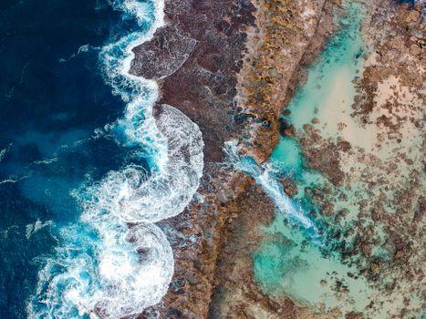 Берег Гавайи с высоты птичьего полета