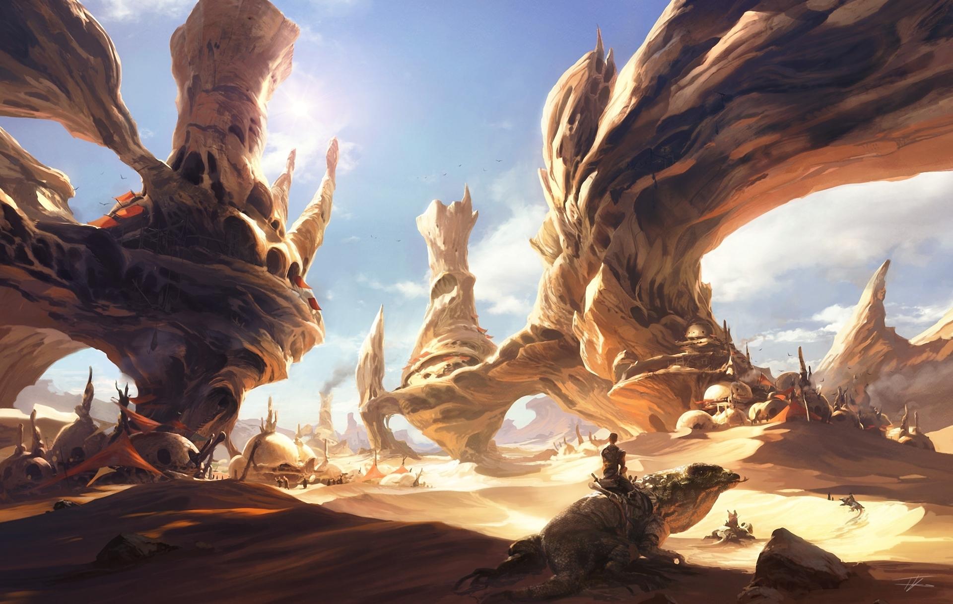 Mayarabi Desert-lizard-fantasy-world-sky