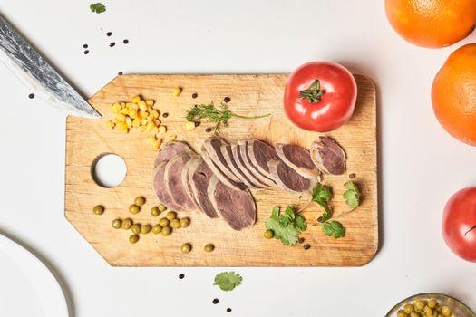 Фото бесплатно еда, помидоры, зелёный горошек