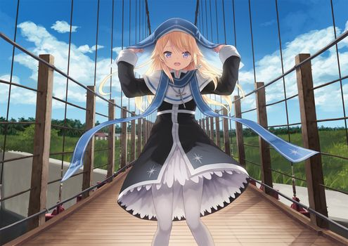 Фото бесплатно маги в базилике wanchin, девушка, аниме