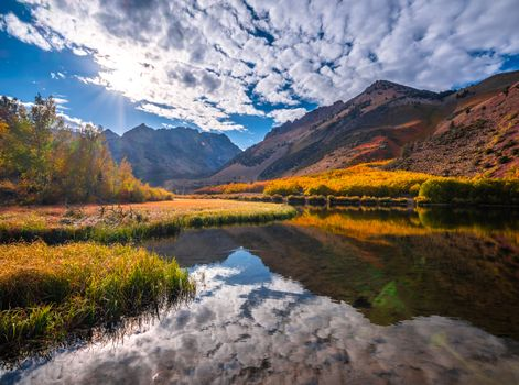 Заставки осенние реки, горы облака, США