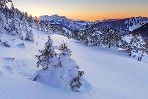 Фото бесплатно Швейцария, закат, зима