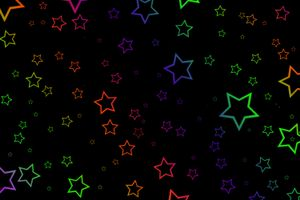 Stars and black background