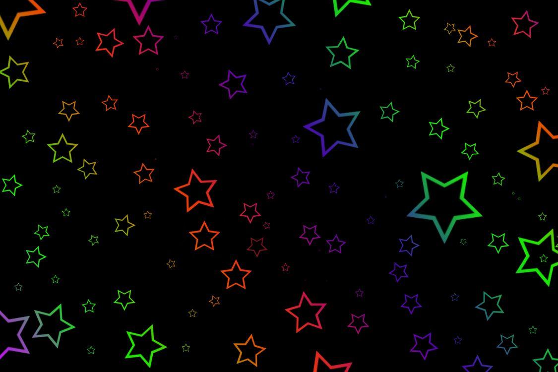 Звездочки и черный фон · бесплатное фото