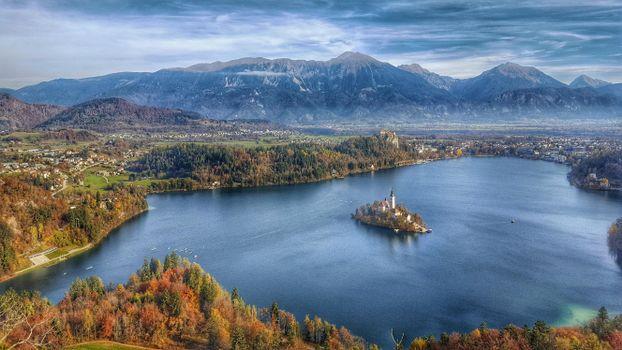 Фото бесплатно Блед, остров Блед, Словения
