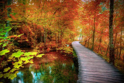 Заставки Plitvice Lakes, Croatia, осень