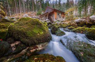 Заставки Schwarzbach River, Austria, Salzburg