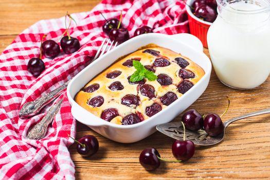 Заставки запеканка, вишня, десерт
