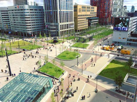 Фото бесплатно здание, городская площадь, город