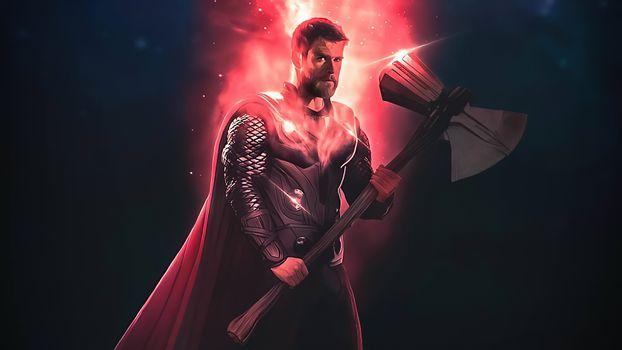 Фото бесплатно Thor, супергерои, произведение искусства