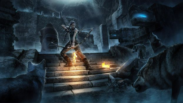 Photo free Tomb Raider, Lara Croft, Behance