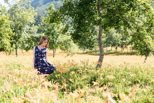 Фото бесплатно молодая женщина, лето, азиатка