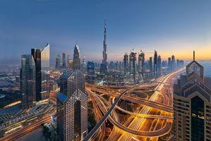 Фото бесплатно Dubai, UAE, закат