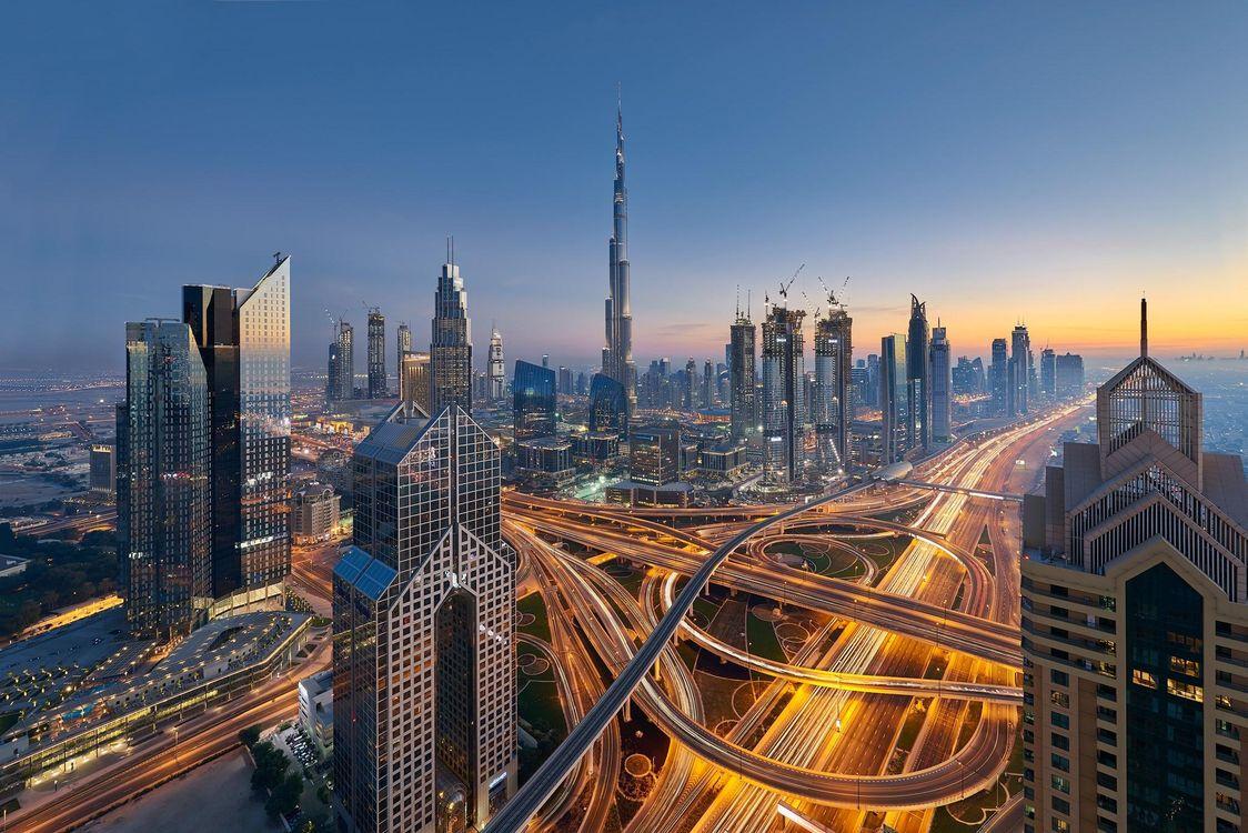 Обои Dubai, UAE, закат картинки на телефон