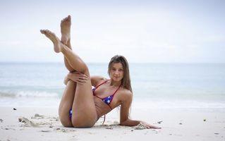 Бесплатные фото maria ryabushkina, maria, tara, melena, maria rya, брюнетка, пляж