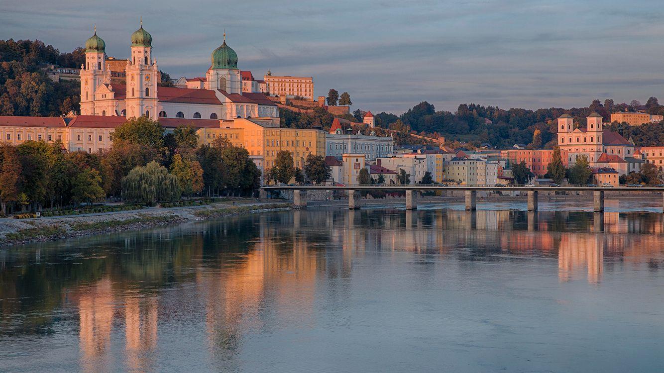 Фото бесплатно Пассау, Дунай, Бавария, Германия, река, город