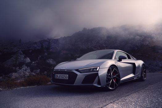 Photo free coupe, Audi R8, gray car