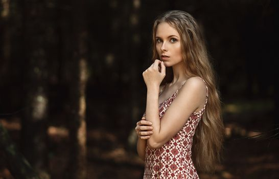 Photo free long hair, model, dress