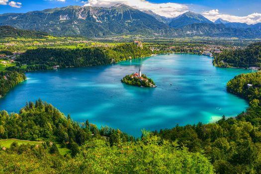 Заставки остров Блед, Словения, Блед Озеро