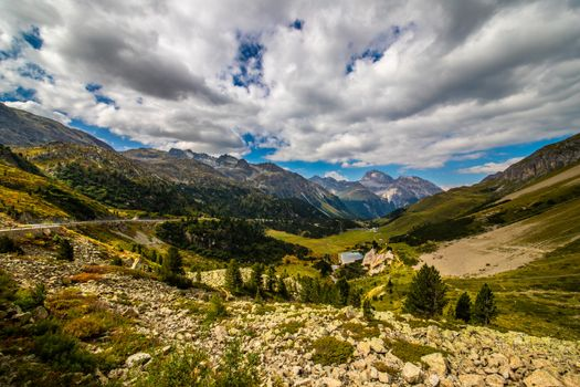 Photo free mountains of switzerland, valley, clouds