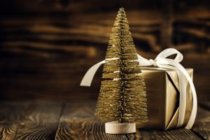Фото бесплатно подарок, новый год, елка