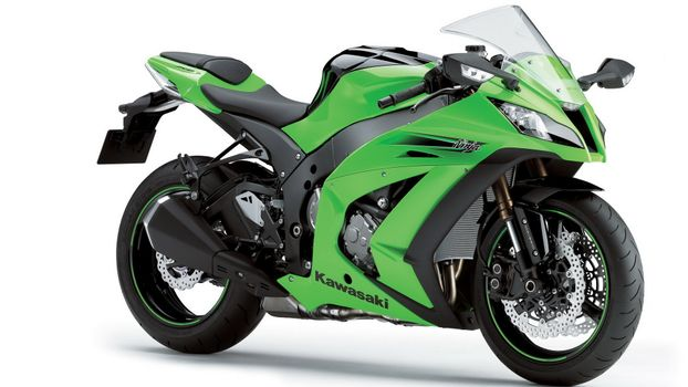 Photo free motorcycle, green, ninja